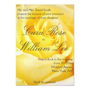 Elegant Yellow Rose Wedding Invitations starting at 2.66