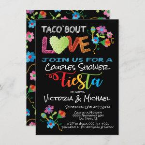 Embroidery Taco 'bout Love couples shower invite starting at 2.20