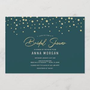 Emerald and Gold Bridal Shower starting at 2.40