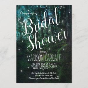 Enchanted Forest Trees Fairy Lights Bridal Shower Invitation starting at 2.25