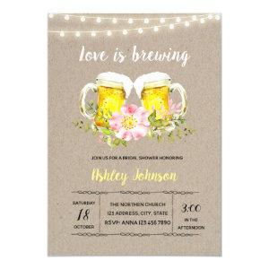 Engagement love is brewing invitation starting at 2.50