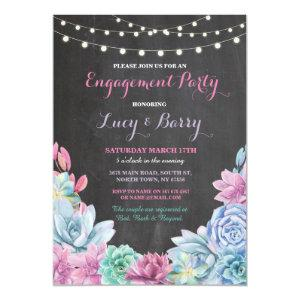 Engagement Party Chalkboard Floral Pink Invite starting at 2.51