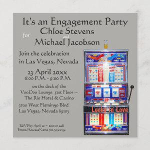 Engagement Party Slot Machine Lucky in Love Invitation starting at 2.30