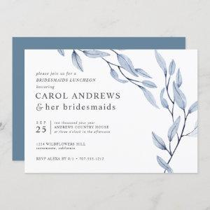 Ethereal Blue Chic Botanical Bridesmaids Luncheon Invitation starting at 2.40