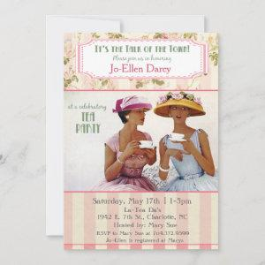 Ethnic African American Retro Tea Party Invitation starting at 2.61