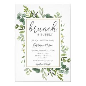 Eucalyptus Brunch and Bubbly Bridal Shower Invitation starting at 2.45