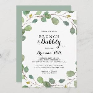 Eucalyptus Brunch and Bubbly Bridal Shower Invitation starting at 2.51