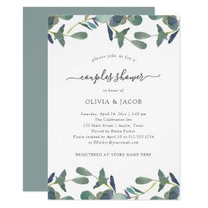 Eucalyptus Crest | Green Leaves Couples Shower Invitation starting at 2.55