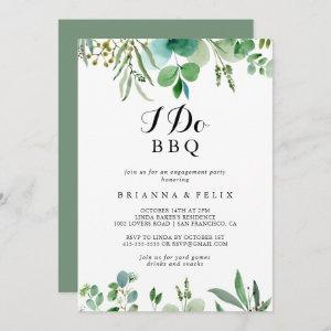 Eucalyptus Foliage I Do BBQ Engagement Party Invitation starting at 2.51