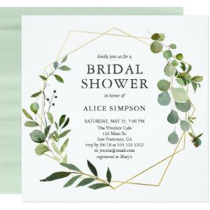 Eucalyptus Geometric Bridal Shower Invitation starting at 2.41