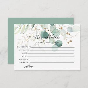 Eucalyptus Gold Floral Advice and Wishes Card starting at 2.01