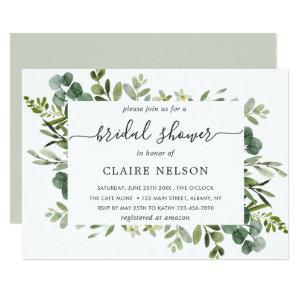 Eucalyptus Green Foliage Bridal Shower Invitation starting at 2.51