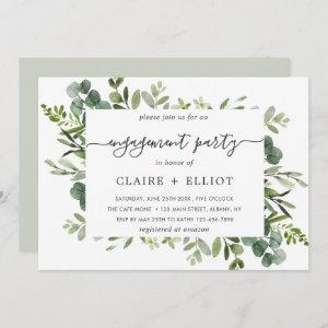 Eucalyptus Green Foliage Engagement Party Invitation starting at 2.51