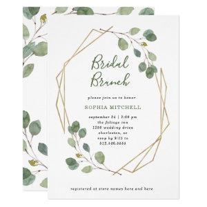 Eucalyptus Greenery | Geometric Bridal Brunch Invitation starting at 2.15