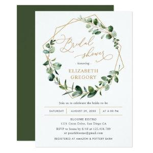 Eucalyptus Greenery Geometric Bridal Shower Invitation starting at 2.56