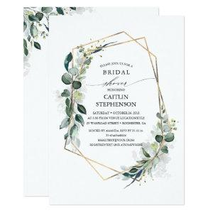 Eucalyptus Greenery Geometric Modern Bridal Shower Invitation starting at 2.26