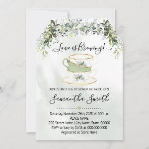 Eucalyptus greenery tea bridal shower invitation starting at 2.61