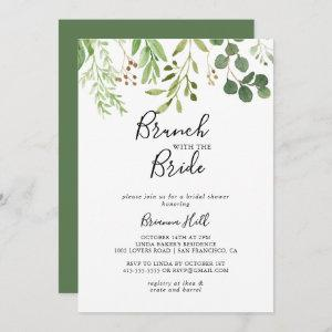 Eucalyptus Simple Brunch with the Bride Shower Invitation starting at 2.51