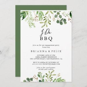 Eucalyptus Simple Floral I Do BBQ Engagement Party Invitation starting at 2.51