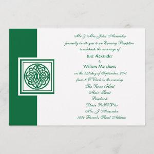 Evening Wedding Celtic Knot Color Select Invitation starting at 2.98
