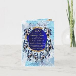 Exotic Blue Dream Catcher Couple Shower Invitation starting at 3.00