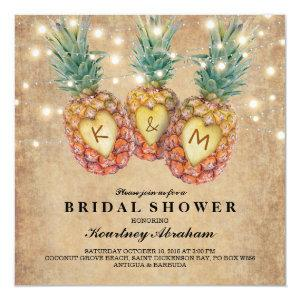 Exotic Pineapple Tropical Bridal Shower Invitation starting at 2.41