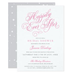 Fairytale Bridal Shower Invitations in Pink & Gray starting at 2.98