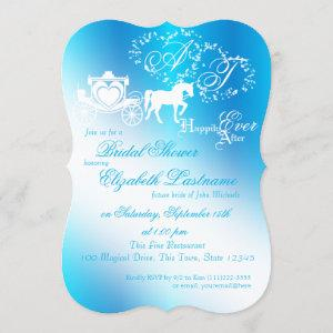 Fairytale Carriage Bridal Shower Peacock Blue Invitation starting at 2.75