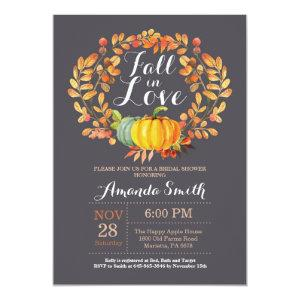 Fall Bridal Shower Invitation Card Gray starting at 2.10