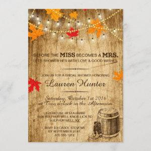 Fall Bridal Shower invitation for country wedding starting at 2.66