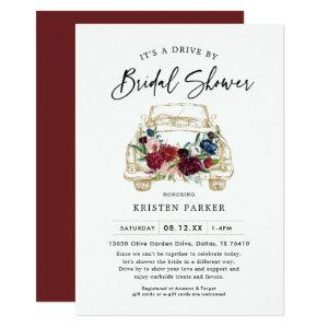 Fall Burgundy Drive By Bridal Shower Invitation starting at 2.61