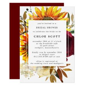 Fall Flowers Bridal Shower Invitation starting at 2.15