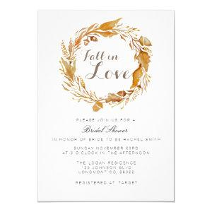 Fall Foliage Watercolor | Bridal Shower Invite starting at 2.50