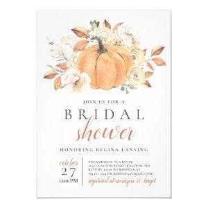 Fall Harvest Pumpkin Bridal Shower Invitation starting at 2.15