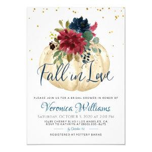 Fall in Love Autumn Bridal Shower Invitation starting at 2.35