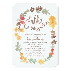 Fall in Love Autumn Bridal Shower Invitation starting at 2.86