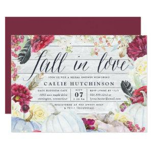 Fall in Love | Autumn Bridal Shower Invitation starting at 2.51