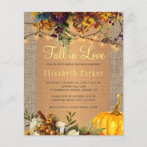 Fall in Love autumn floral BUDGET bridal shower starting at 0.61