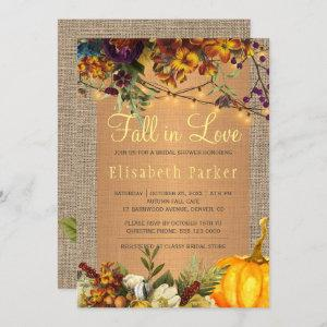 Fall in Love autumn floral burlap bridal shower starting at 2.45