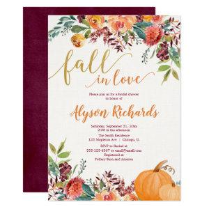 Fall in love autumn floral rustic bridal shower invitation starting at 2.25