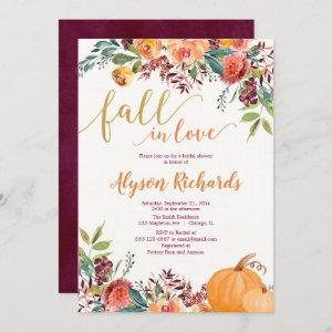 Fall in love autumn floral rustic bridal shower invitation starting at 2.55