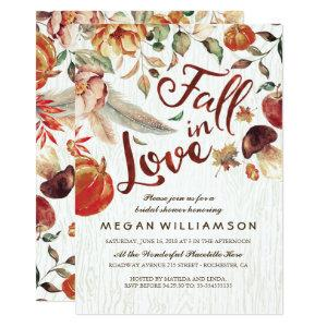 Fall in Love Autumn Harvest Pumpkin Bridal Shower Invitation starting at 2.26