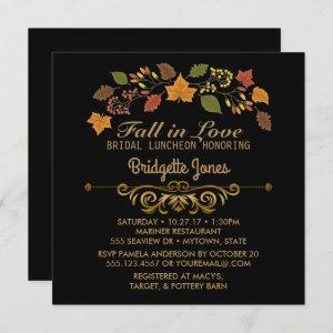 Fall in Love Bridal Luncheon Autumn Wedding Shower Invitation starting at 2.30