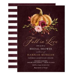 Fall in Love Bridal Shower invitation starting at 2.20