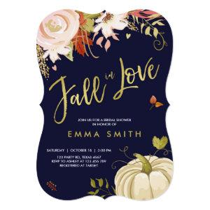 Fall in Love  Bridal shower invitation Baby Autumn starting at 2.91