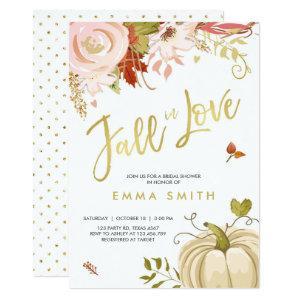 Fall in Love  Bridal shower invitation Baby Autumn starting at 2.36
