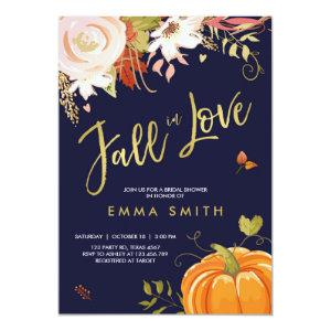 Fall in Love  Bridal shower invitation Baby Autumn starting at 2.66