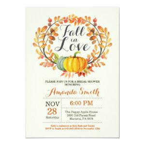Fall in Love Bridal Shower Invitation Card starting at 2.10