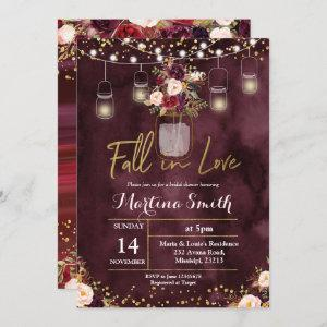 Fall in Love Bridal Shower Invitation card starting at 2.55