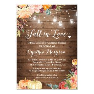 Fall in Love Floral String Lights Bridal Shower Invitation starting at 2.40